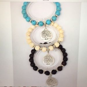 6 Pack Wholesale Tree Of Life Bracelet Lot
